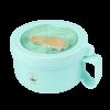 Ланч бокс супница в форме чашки из экоматериала, бирюзовый 850 мл