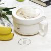 Ланч бокс супница в форме чашки из экоматериала, бежевый 850 мл