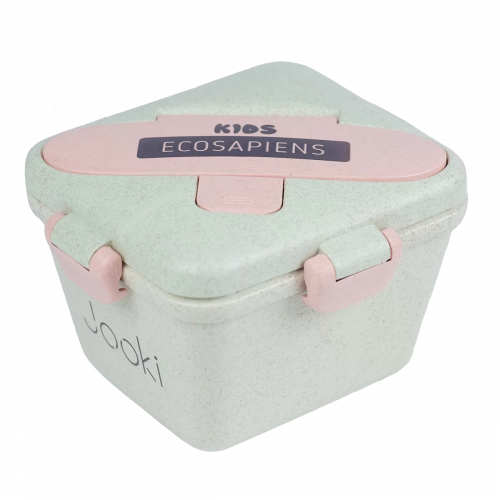"""Ланч бокс """"Ecosapiens Kids"""" из экоматериала, розовый 750 мл."""