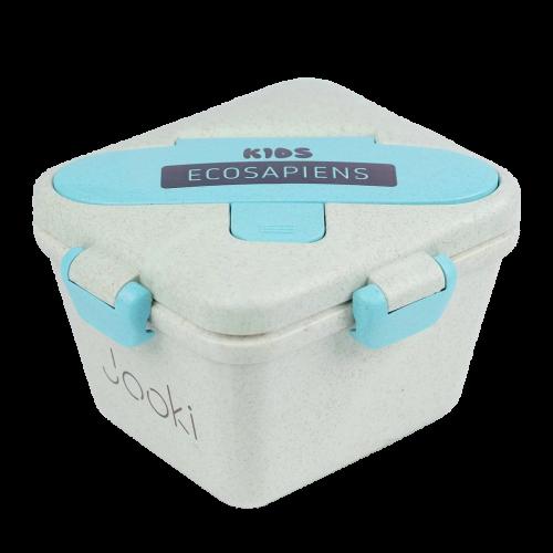 """Ланч бокс """"Ecosapien Kids"""" из экоматериала, бирюзовый 750 мл."""