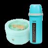 """Эко ланч набор бирюзовая  термобутылка """"Ecosapiens"""" + Ланч бокс супница в форме чашки 850 мл"""