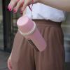 """Эко ланч набор розовая термобутылка """"Ecosapiens"""" + Ланч бокс """"Планета"""" из экоматериала 1200 мл"""
