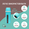 """Термобутылка """"Ecosapiens"""" из экоматериала, бирюзовая 500 мл."""