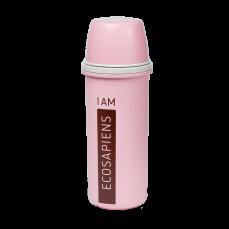 "Термобутылка ""Ecosapiens"" из экоматериала, розовая 500 мл."