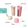 "Термобутылка ""Ecosapiens Kids"" из экоматериала, розовая 500 мл."