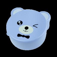 """Детский ланч-бокс """"Bear"""" 4в1, голубой"""