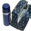 """Эко подарочный ланч набор термосумка """"Елочка"""" + синий термос """"Travel"""" 500 мл + бирюзовый ланч бокс 950 мл + подарочная коробка"""