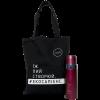 """Эко ланч набор эко-сумка шоппер + красный термос """"Travel"""""""