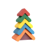 Игрушка — пирамидка «Цветная елочка»