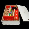Эко подарочный набор,  игра — сортер «Цветной квартет» +  игрушка Стучалка  + подарочная коробка