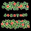 Набор цифры и знаки на магнитах 72 элемента