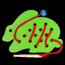 Детская развивающая игрушка шнуровка «Кролик»
