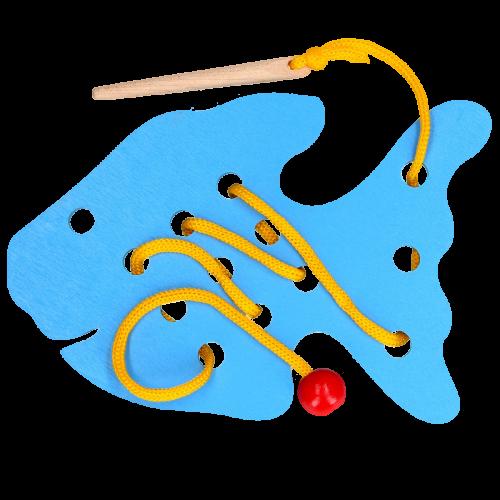 Детская развивающая игрушка шнуровка «Рыба»