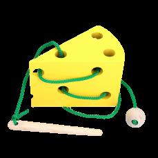 Детская развивающая игрушка шнуровка Сыр