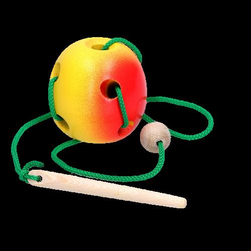 Детская развивающая игрушка шнуровка «Яблоко»