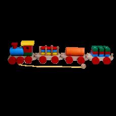 Детская игрушка Паровоз и 3 вагона