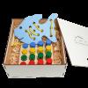 """Эко подарочный  набор, шнуровка «Рыба»  +  игра """"Цветные цилиндры""""+ подарочная коробка"""