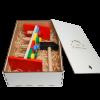 Эко подарочный набор,  экологическая игрушка Стучалка  + подарочная коробка