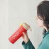 """Эко ланч набор розовый ланч бокс 750 мл """"Ecosapiens Kids"""" + красный термос детский ЭКО """"Life"""" 500 мл"""