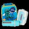 """Эко ланч набор 5в1, 3D термо-рюкзак """"Dinosour"""" термобутылка 500 мл + ланч бокс 950 мл"""
