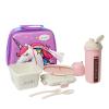 """Эко ланч набор Термо-рюкзак 3D """"Unicorn"""" термобутылка 500 мл + ланч бокс 750 мл розовий"""
