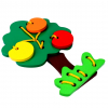Детская развивающая игрушка шнуровка Дерево