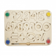"""Детский деревянный планшет """"Цифры"""""""