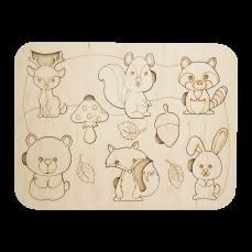 Детский деревянный планшет «Animals»