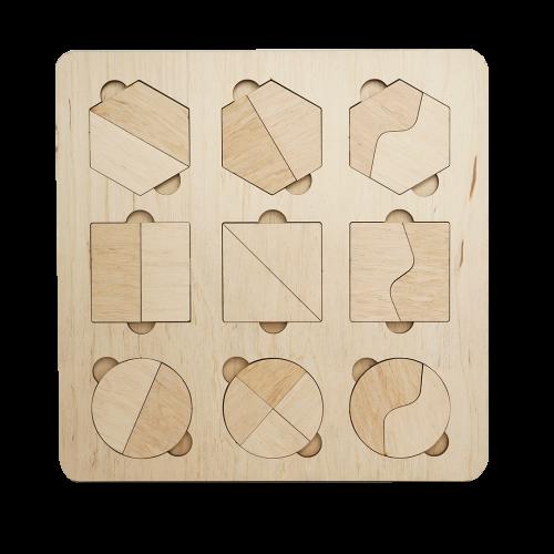Детский деревянный планшет «Геометрические фигуры»