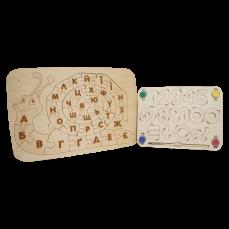 """Детский деревянный набор, планшет «Улитка» + планшет """"Цифры"""""""