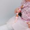 """Детская игрушка силиконовый """"Держатель гризунець"""" розовий"""
