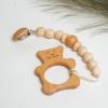 """Эко подарочный детский набор комплект """"Силиконовый держатель гризунець + игрушка колотушка"""" + коробка"""