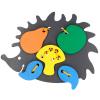 Эко подарочный  набор, шнуровка «Ёж» + пирамидка-сортер  Считалочка + математический  планшет +  подарочная коробка